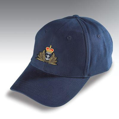 Embroidered Baseball Hat Navy Blue Royal Navy