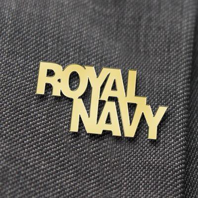 Royal Navy Gilt Lapel Badge