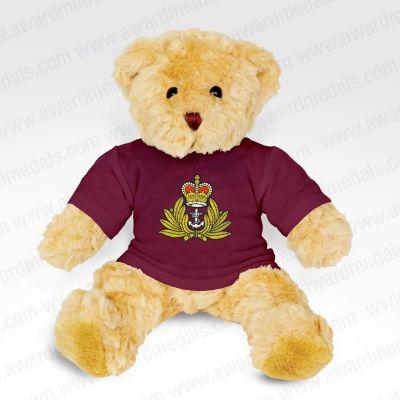 Teddy Bear With Burgundy T-Shirt