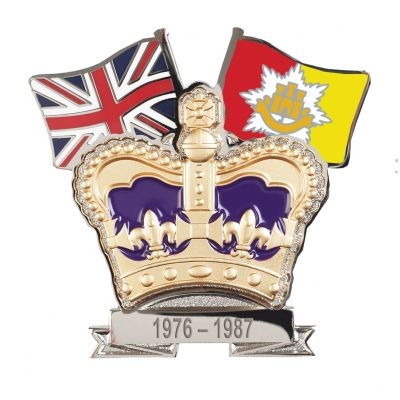 Crown & Country Lapel Badge Royal Anglian Regiment