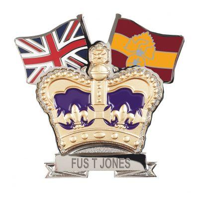 Royal  Regiment Fusiliers Crown & Country Lapel Badge