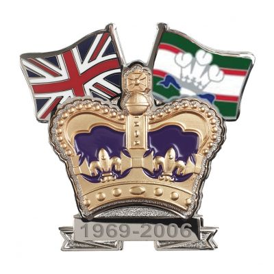 Royal Regiment of Wales Crown & Country Lapel Badge