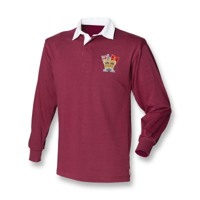 Crown & Country Rugby Shirt Burgundy
