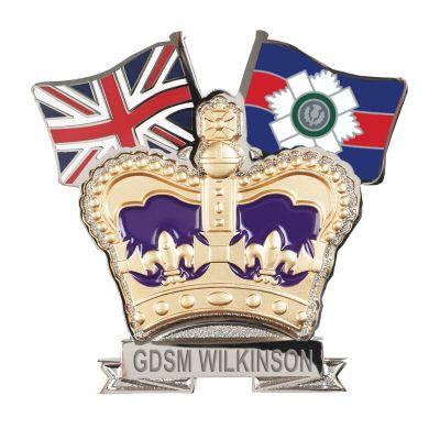 Scots Guards Regiment Crown & Country Lapel Badge