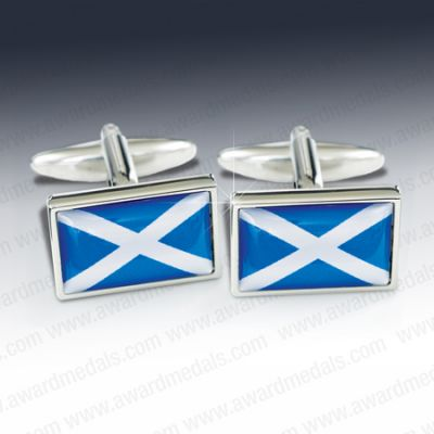 Scottish Flag Cufflinks (RECTANULAR)