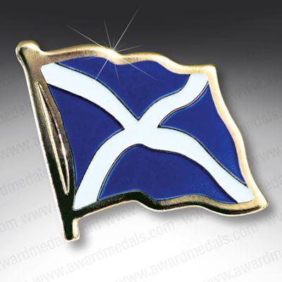 Scottish Flag Lapel Badge