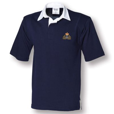Navy Blue Short Sleeved Rugby Shirt