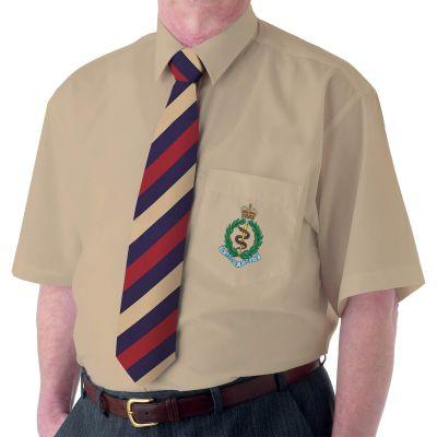 Khaki Short Sleeve Dress Shirt