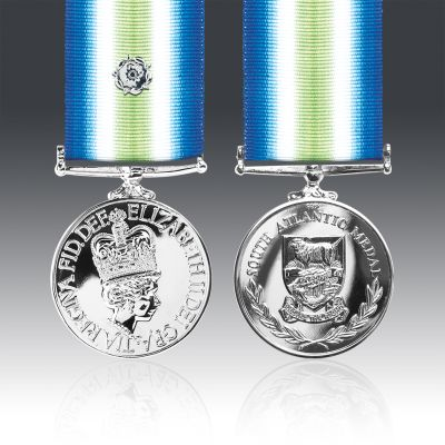 South Atlantic With Silver Rosette Full Size Medal Loose