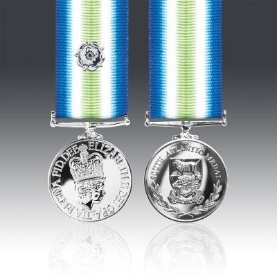 South Atlantic With Silver Rosette Miniature Medal Loose