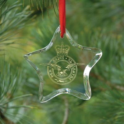 Star Crystal Glass Christmas Decoration