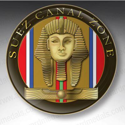 Suez Canal Zone Lapel Badge