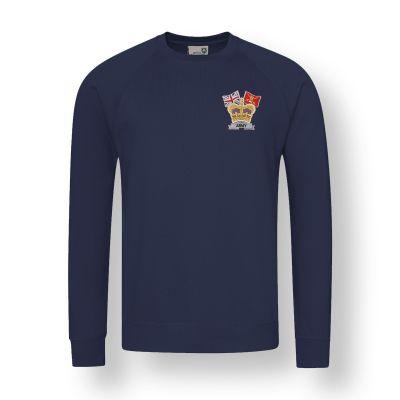 Crown & Country Sweatshirt Navy Blue