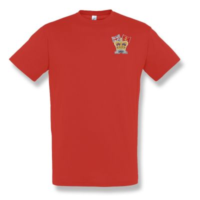 Crown & Country Embroidered Red T-Shirt