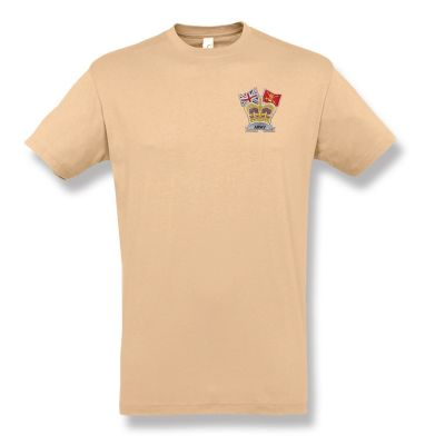 Crown & Country Embroidered Sand T-Shirt
