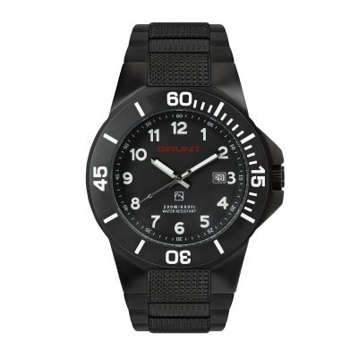 GBKS The Tough Watch, Black Dial, Case & Bezel, Black Stainless Bracelet
