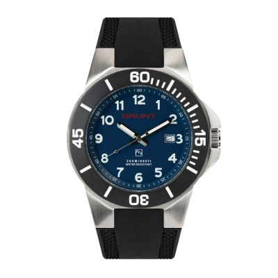GBLR The Tough Watch, Blue Dial, Stainless Case, Black Bezel, Silicon Strap