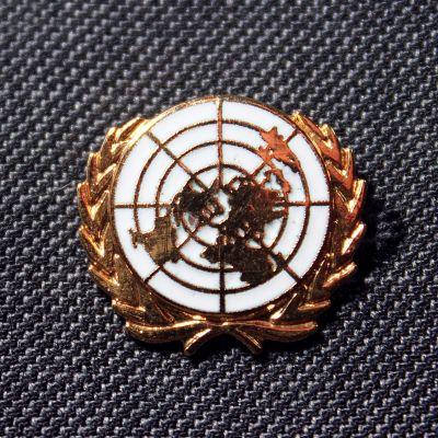 United Nations (white) Lapel Badge