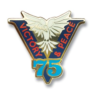 Victory & Peace 75 Lapel Pin
