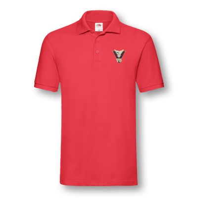 Victory & Peace 75 Red Poloshirt