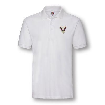Victory & Peace 75 White Poloshirt