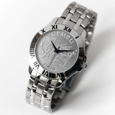 Patriot Watch Silver Bracelet WELSH