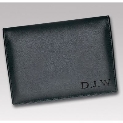 Personalised Compact Leather Wallet Engraved Initials