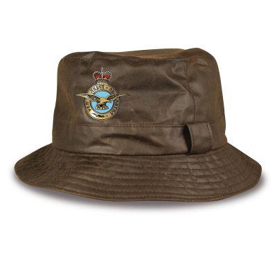Personalised Wax Bush Hat - Brown