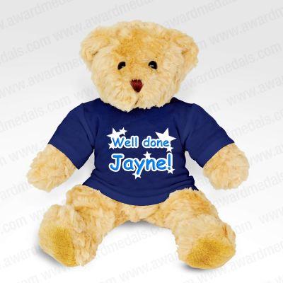 Teddy Bear With Navy Blue T-Shirt
