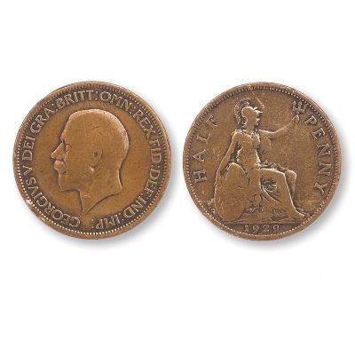 George V Half Penny Coin Pack