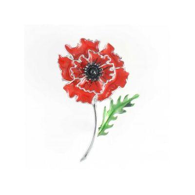Wild Poppy Brooch