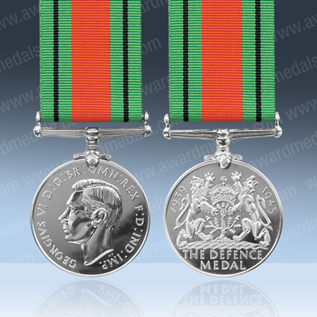 WITH FREE UK POSTAGE WW2 DEFENCE MEDAL 100/% GENUINE FULL SIZE