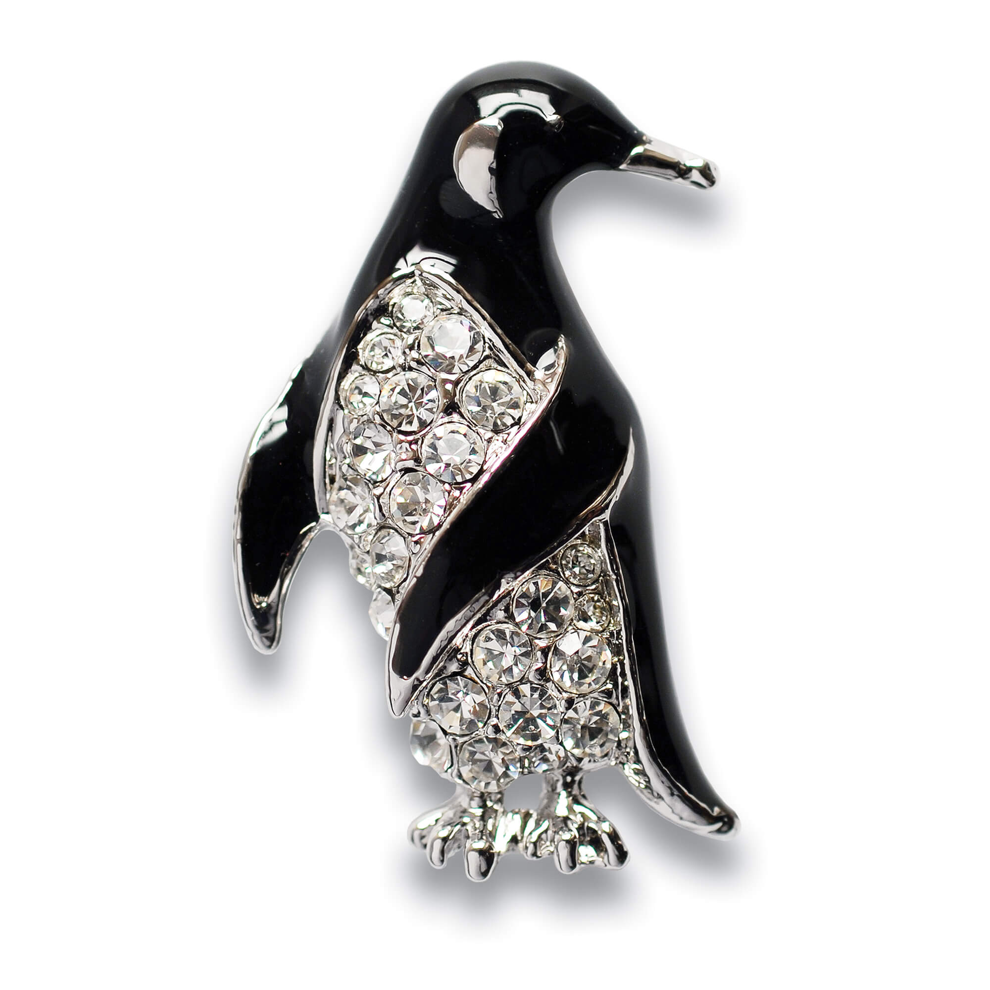 at eyes back featuring for brooches j round jewelry l cut penguin yellow gold brooch id metal sapphire sapphires weight