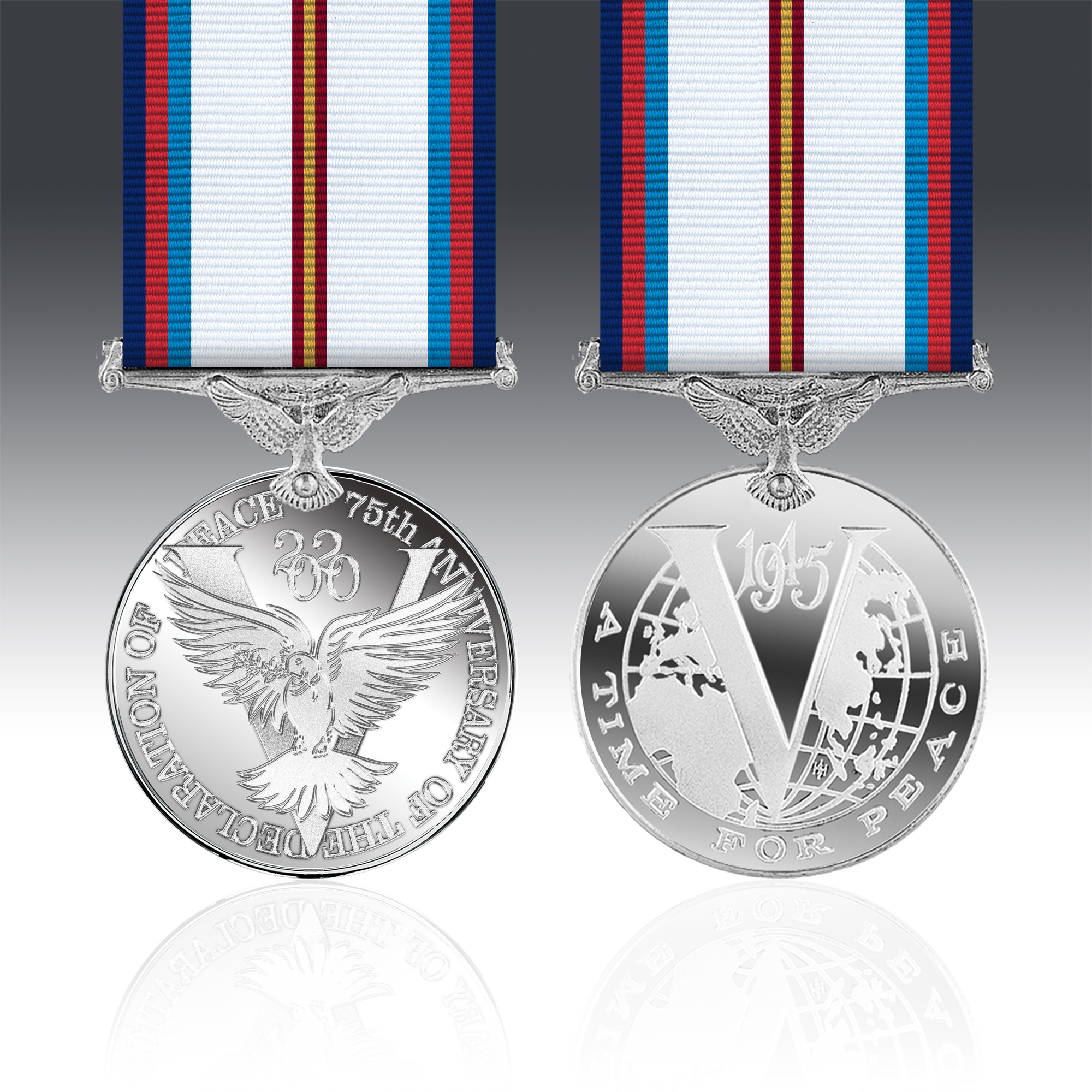 2 Shining Gold OUTSTANDING ACHIEVEMENT Medals In Box