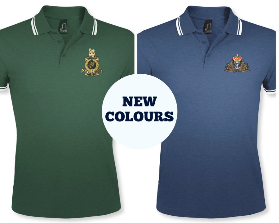New Colours - Personalised Double Tipped Polo Shirts