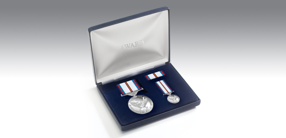 victory & peace medal presentation set
